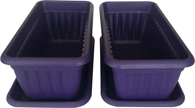 Premium High-Density Plastic trust Planter Denise Units Set 13.8