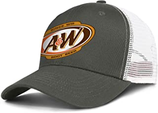 XIANGXIXI0 Mens Women's A&W Root Beer Logo Hat Hip Hop Baseball Hats Adjustable Mesh Strapback Cap