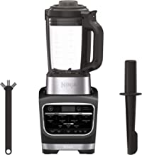 Ninja Foodi Cold & Hot Cook Hot Soups, Sauces and Dips Blender with 1400 Peak Watts to Crush Frozen Drinks & Smoothies Nonstick Glass Pitcher (HB152), 64 oz, Black (Renewed)