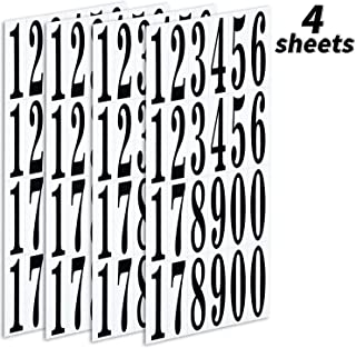 Numbers Stickers Self Adhesive Vinyl Numbers in 0 - 9 Printing and Hot Stamping for DIY Crafts Party Decoration(3