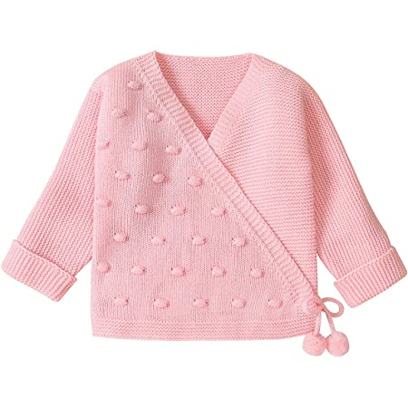 Borlai 0-18 Mois bébé tricoté Cardigan Unisexe à Manches Longues Doux Chaud Pull Manteau
