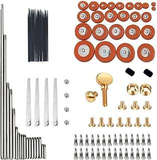 GU GU 1 Set Alto Sax Repair Parts Screws + 25pcs Sax Pads + Blanket column