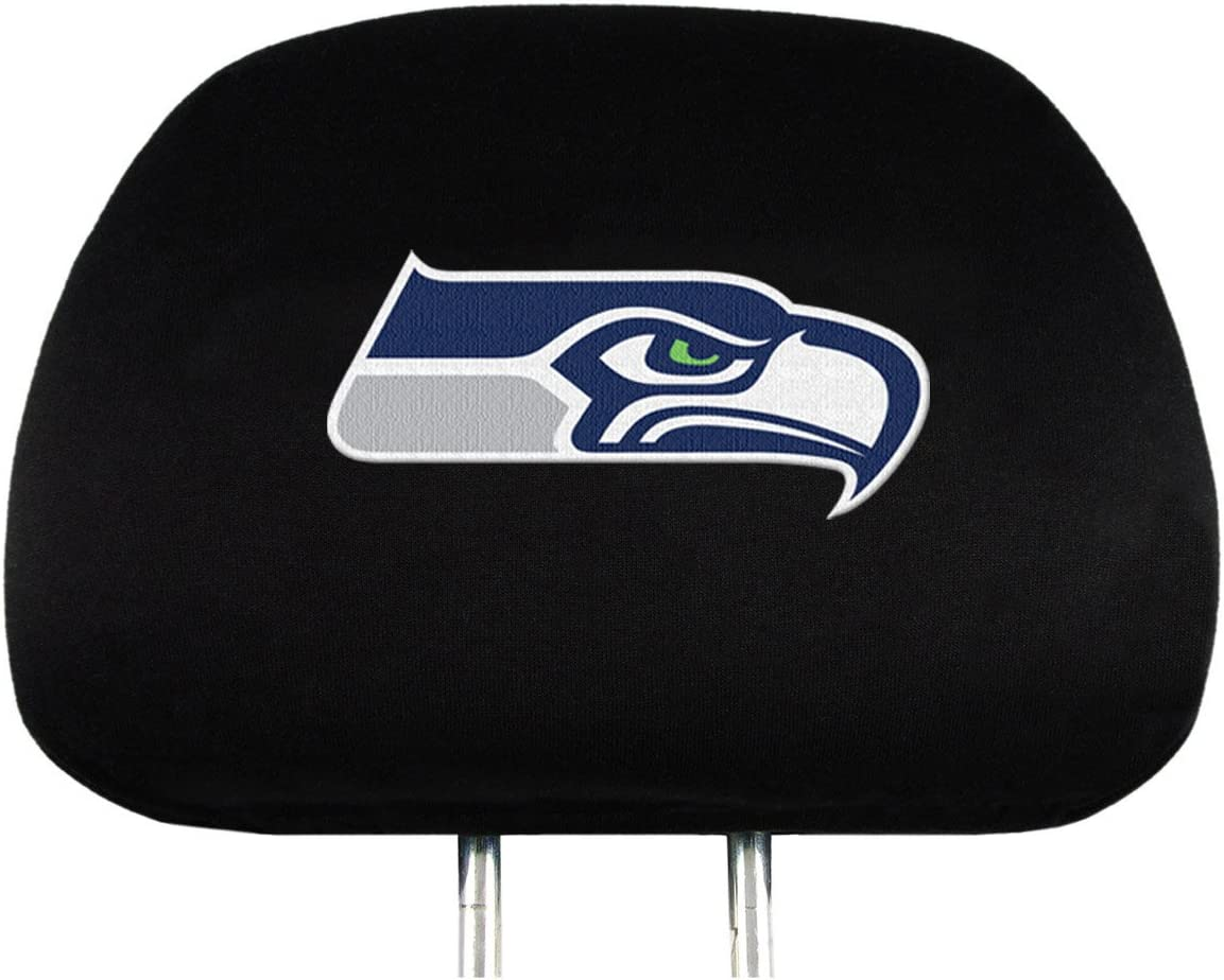 In a popularity FANMATS NFL Seattle Seahawks Head Rest Covers Max 41% OFF Black on 2-Pack