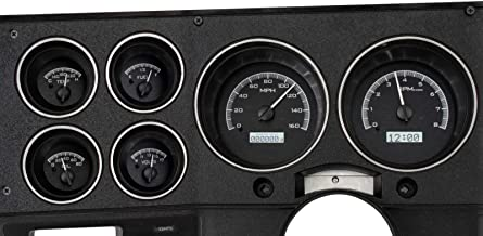 Dakota Digital 73 - 87 Chevy GMC Pickup Truck VHX Analog Dash Gauges Black Alloy White VHX-73C-PU-K-W