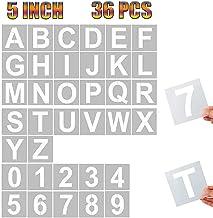 36 Pcs Reusable Plastic Alphabet Art Craft 5 inch 5 Inch Letter Stencils