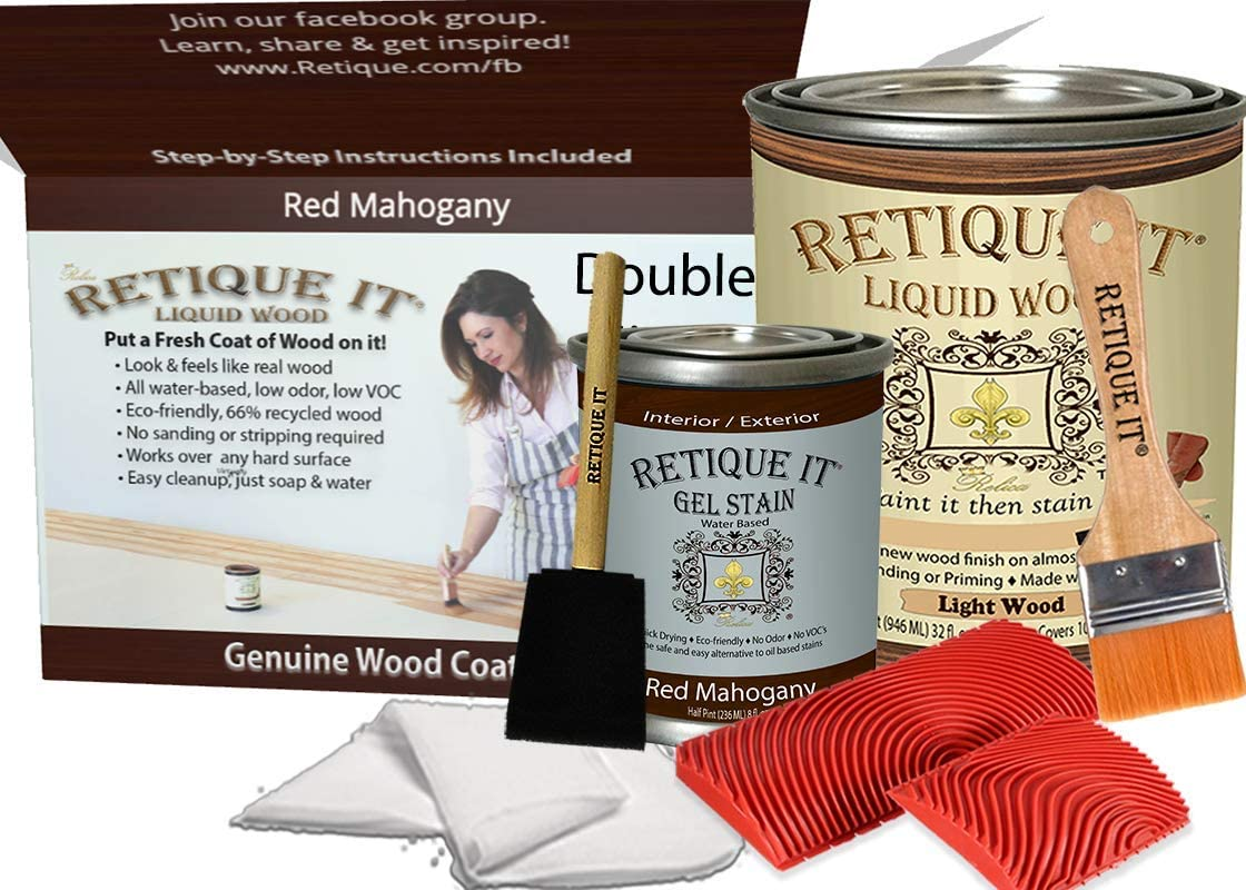 Retique It Graining Kit Gel Stain with oz Liquid 32 Quart Super Inexpensive intense SALE Wood