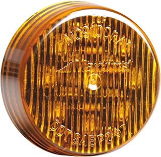 """Maxxima M09100Y 9 LED Amber 2"""" Round Clearance Marker Light"""