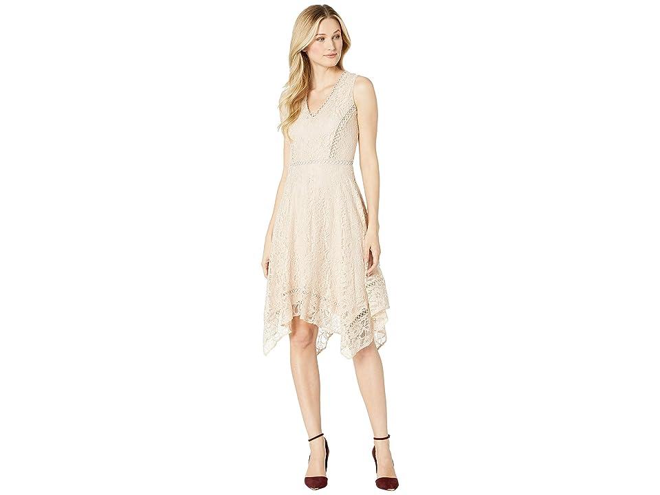 Taylor Sleeveless Lace Cocktail Dress (Blush) Women