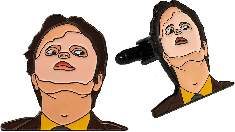 Balanced Co. Dwight Schrute Mask Cufflinks Rainn Wilson Cuff Links