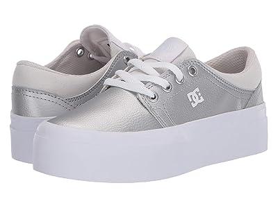 DC Kids Trase Platform (Little Kid/Big Kid) (Silver) Girls Shoes