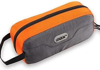 GOX Premium Toiletry Bag, Dopp Kit Case For Travel, Multifunction Cosmetics Organizer Pouch (Grey/Orange)
