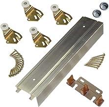 "product image for Johnson Hardware 2200F Twin Wheel Sliding Bypass Door Hardware 72"""