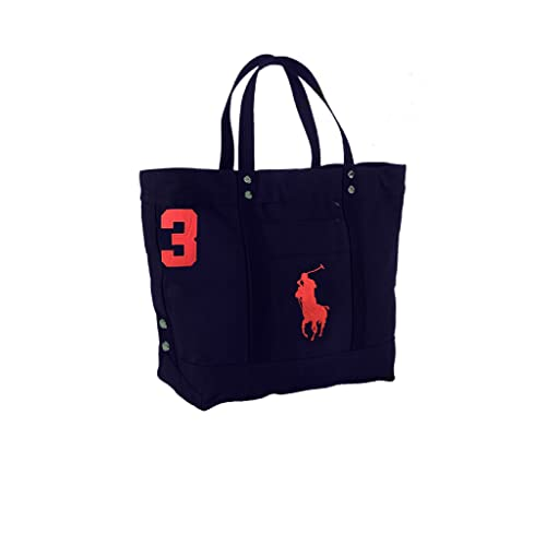 2acf4ae4b6 Polo Ralph Lauren Cotton Canvas Big Pony Zip Tote Bag