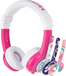BuddyPhones - Explore Foldable Volume Limiting Headphones for Kids - Durable, Comfortable, Built in Headphone Splitter and...