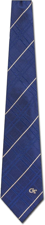 Georgia Tech Striped Woven Silk Neck Tie
