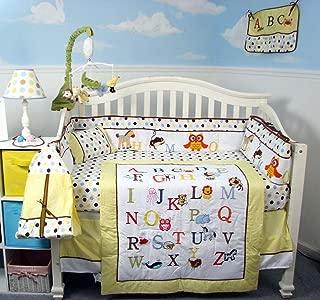 alphabet zoo crib bedding