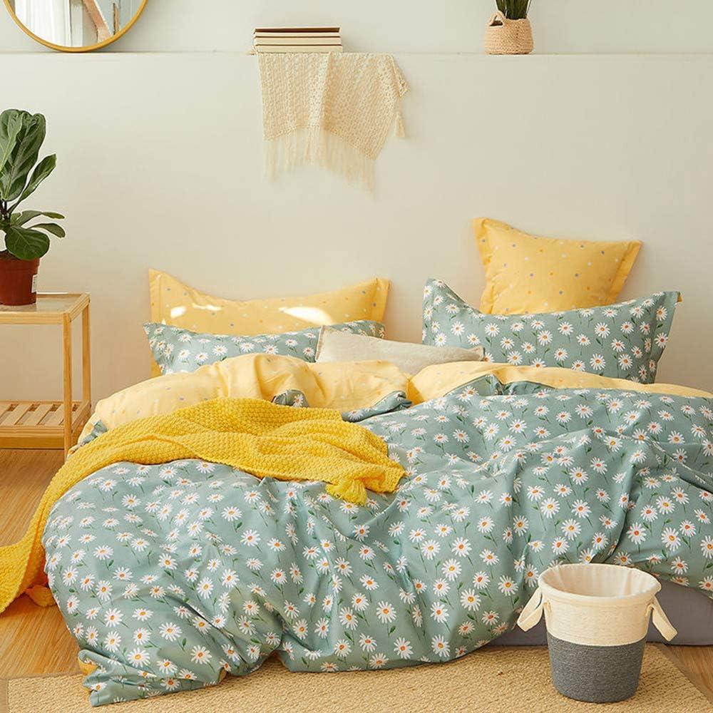 MICBRIDAL Daisy Floral Duvet Cover King Cotton 低価格化 店 100% Super Soft F