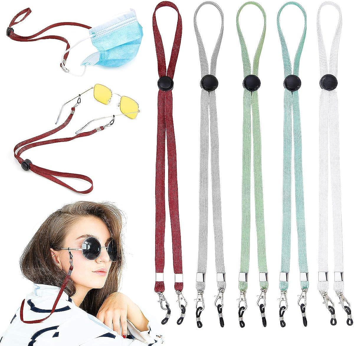 10 Pack Multifunction Mask Lanyard Glasses Chain Adjustable Length Strap Cord Necklace Suitable for women men chirdren elder