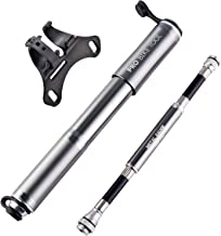 Pro Bike Tool Bike Pump with Gauge Fits Presta and Schrader - Accurate Inflation - Mini Bicycle Tire Pump for Road, Mountain and BMX Bikes, High Pressure 100 PSI, Includes Mount Kit.
