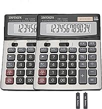 Sponsored Ad - XINPENGFA Office Calculator,12-Digit Battery Dual Powered Handheld Electronic Business Mini Solar Basic Cal... photo