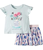 Kate Spade New York Kids - Flower Cat Skirt Set (Toddler/Little Kids)