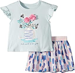 Flower Cat Skirt Set (Toddler/Little Kids)