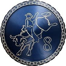 DipLidz Engraved snuff lid Bull Rider