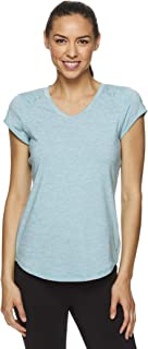 HEAD Women's Studio Short Sleeve Workout T-Shirt - Marled Performance Crew Neck Activewear Top