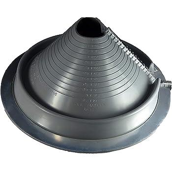 Dektite Retrofit 3 Gray Epdm Metal Roof Pipe Flashing Round Base Pipe Od 3 1 4 10 Amazon Com