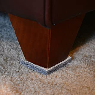 DURA-GRIP Non-Slip Gripper Pads Stop Furniture from Sliding ON Carpet - No Sticky Mess (2 inch Square - Set of 4)