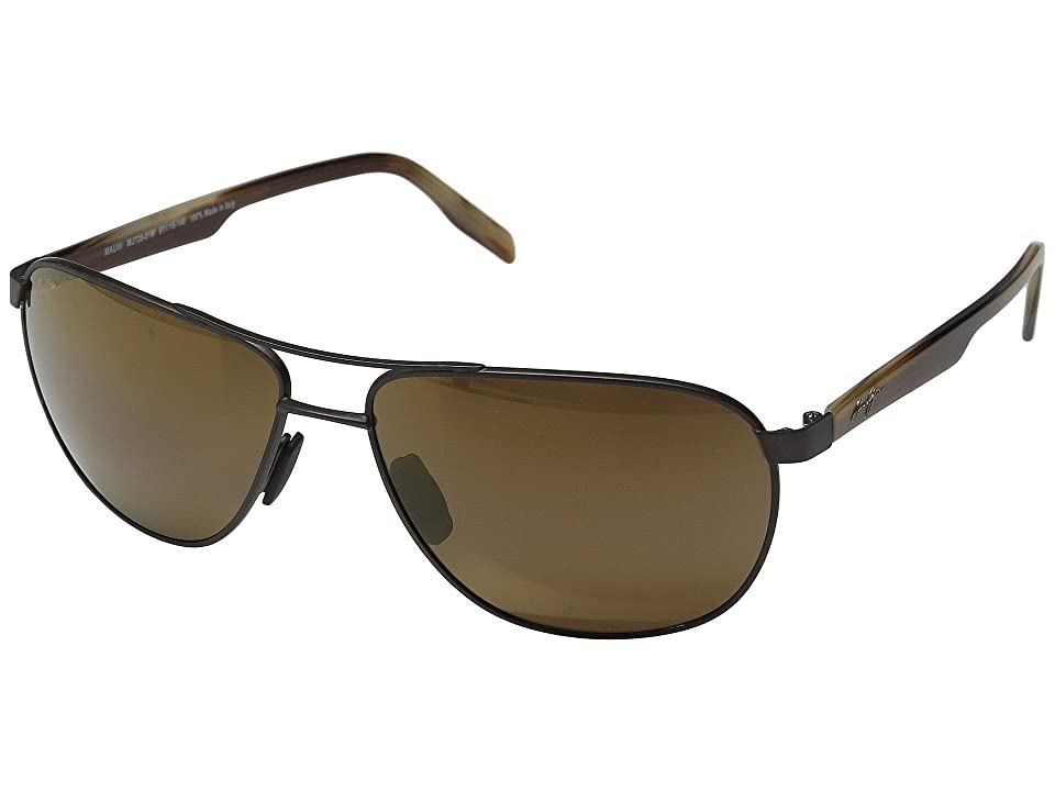 Maui Jim Castles (Matte Chocolate/HCL Bronze) Polarized Fashion Sunglasses