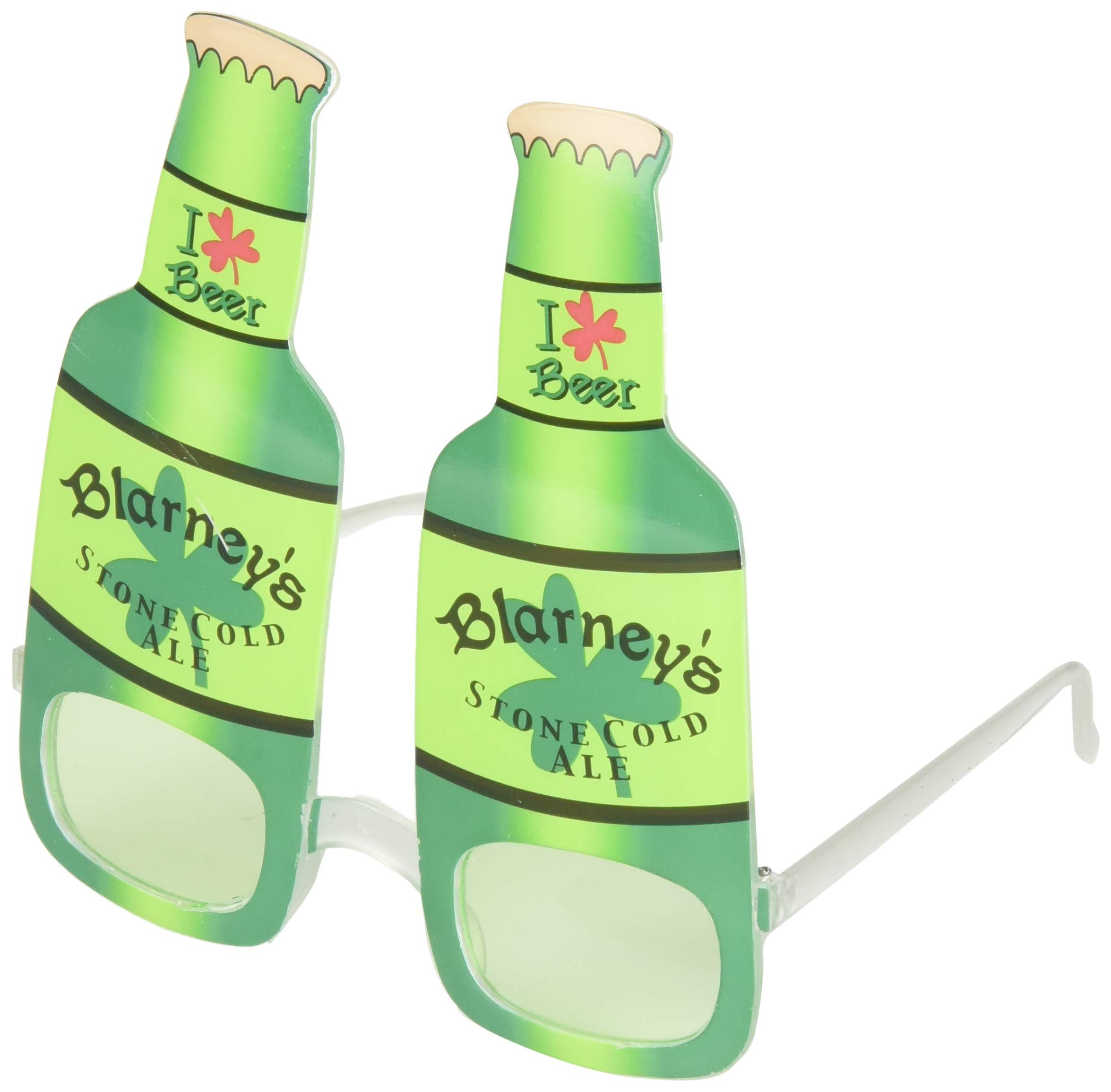 MAXSASI 2 件装圣帕特里克节派对用品啤*趣味眼镜*三叶草太阳镜爱尔兰圣帕特里克节节日派对服装配饰