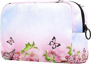 Damska torba do makijażu, kosmetyczka do przechowywania motyl kwiaty wiśni na podróż, organizer na kosmetyki