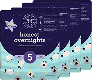 Honest Overnight Baby Diapers,  Sleepy Sheep,  Size 5,  88 Count