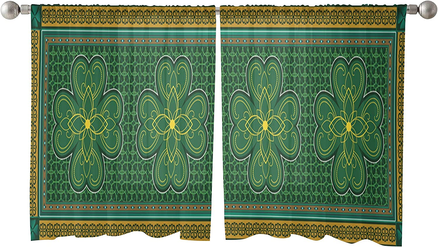 Sheer Minneapolis Mall Curtains 54 Inches Length Panels Day New product type Retro St.Patrick's 2
