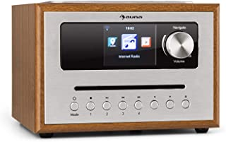 auna Silver Star CD Cube Radio - Radio con WiFi y Reproductor de CD , Microcadena , Radio FM , Bluetooth , 10 W , Pantalla...