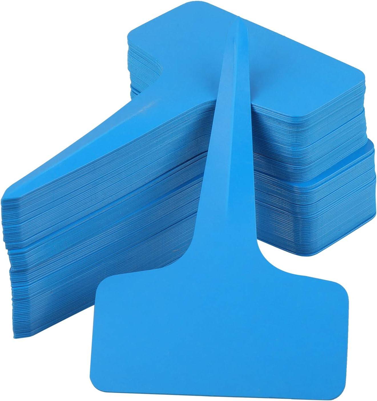 Blue KINGLAKE 100PCS Plastic Plant Markers Labels Blue Garden Tags for Vegetables Herb 6x10cm