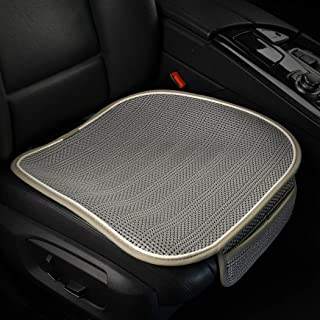Car Seat Cushion,Breathable Comfort Car Drivers Seat Covers, Universal Car Interior Seat Protector Mat Pad Fit Most Car, Truck, Suv, or Van(Gray Front Seat)