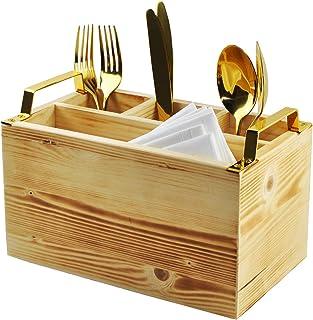Spiretro Flatware Caddy, Cutlery Utensil Holder, Silverware Condiment Organizer for Kitchen, Dining, Entertaining, Tailgat...