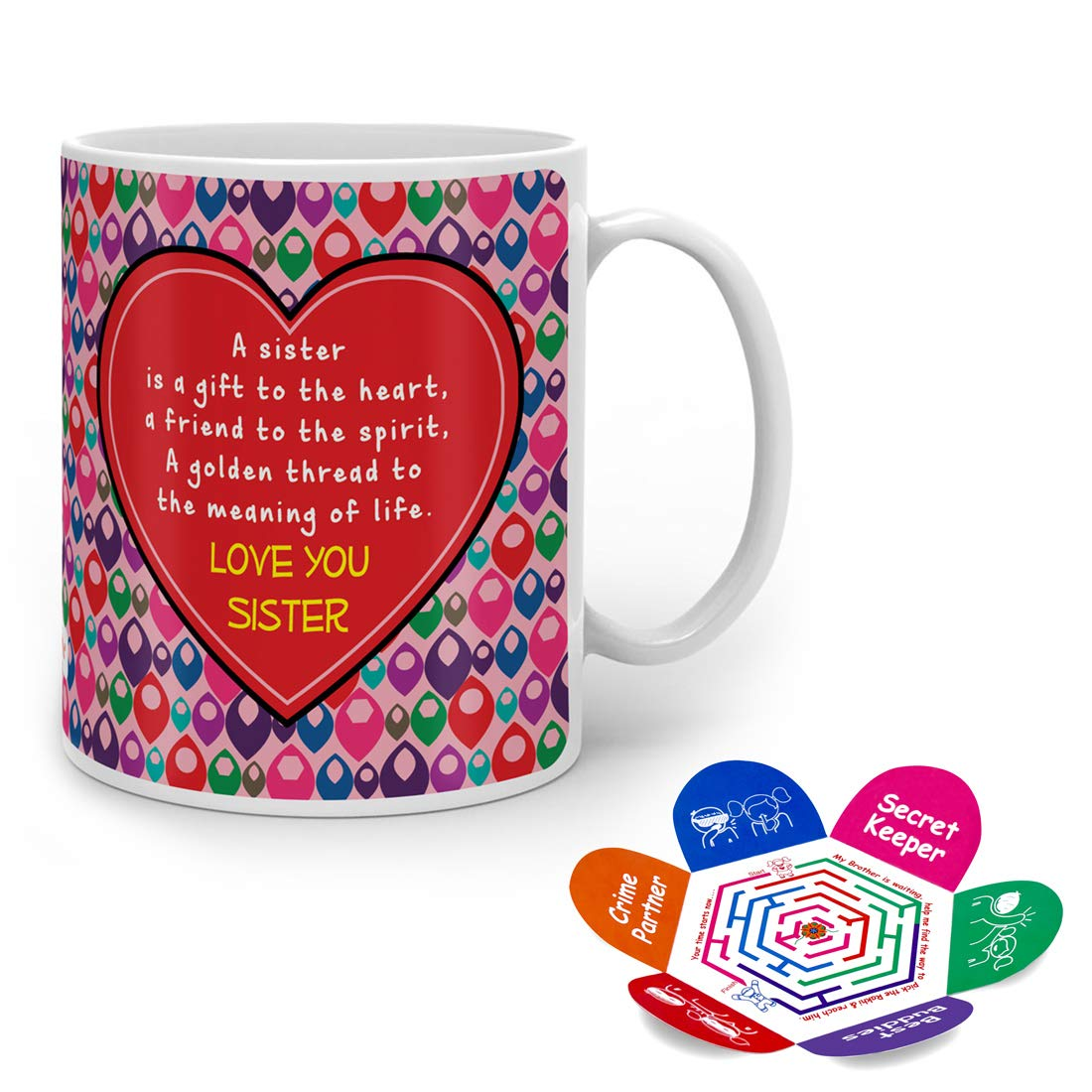 Indigifts Rakshabandhan Gifts for Sister Sis a gift to heart & a golden  thread to meaning of life Quote Pink Coffee Mug 20 ml   Gifts for Sister,  ...