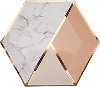 Neviti 772645color bloque mármol–placa–grande–Peach