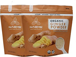 Naturevibe Botanicals Organic Ginger Root Powder-2 lbs (2 pack of 1lbs each), Zingiber officinale Roscoe | Non-GMO verifie...
