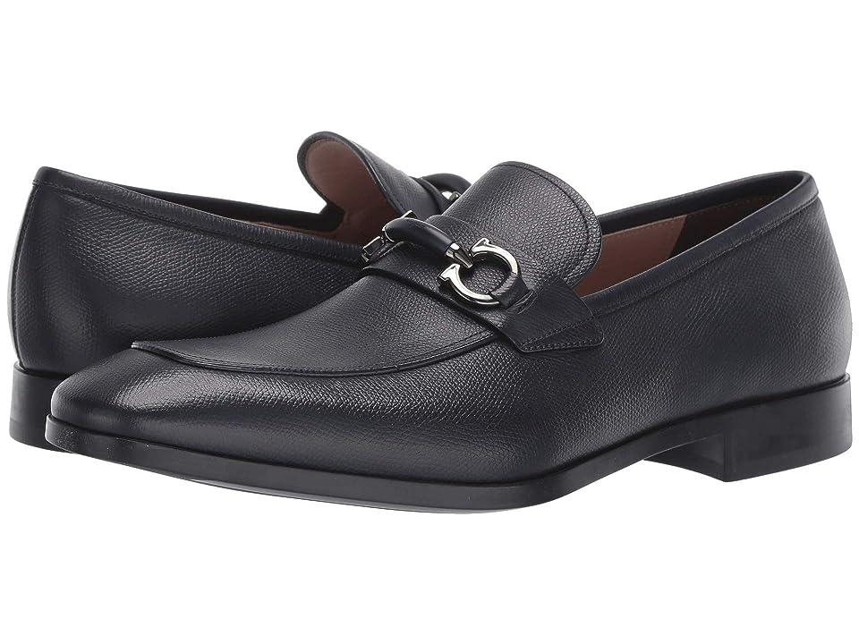 8eb40a31ec5c Salvatore Ferragamo Benford Loafer (Dark Blue) Men s Slip on Shoes