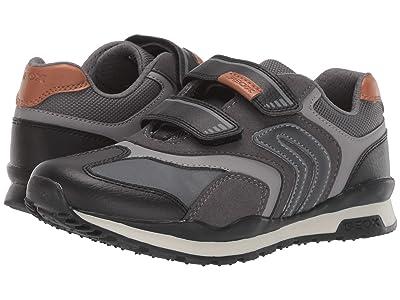 Geox Kids Jr Pavel 23 (Big Kid) (Black/Charcoal 2) Boys Shoes