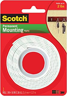3M Scotch Heavy Duty Mounting Tape, 1-Inch by 50-Inch (Pack of 6)