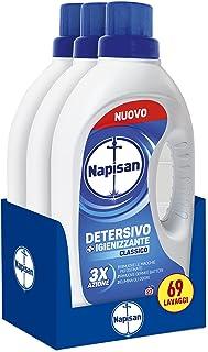 Napisan Vloeibaar wasmiddel voor wasmachine, hygiënisch, klassiek, 69 wasbeurten, 3 verpakkingen met 23 wasbeurten