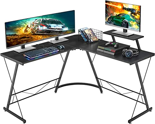 "Mr IRONSTONE L-Shaped Desk 50.8"" Computer Corner Desk, Home Gaming Desk, Office Writing Workstation with Large Monito..."