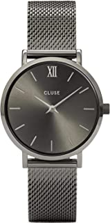 CLUSE Women's Quartz Watch with Stainless Steel Strap, Grey, 16 (Model: CW0101203025)