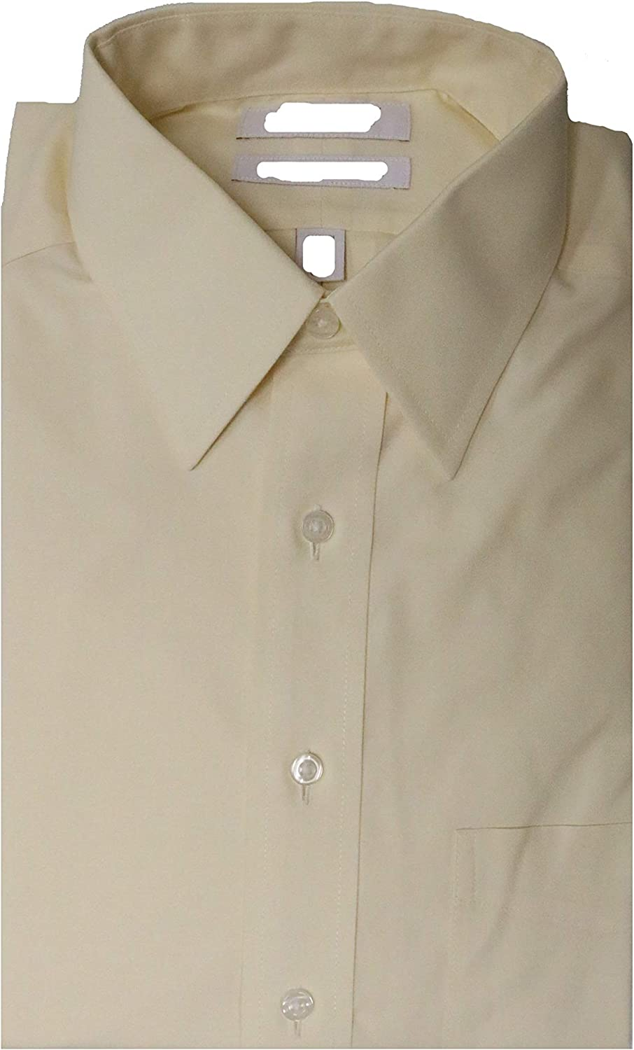 Gold Label Roundtree & Yorke Non Iron Fitted Classic Fit Point Collar Solid Dress Shirt Y35DG104 Ecru