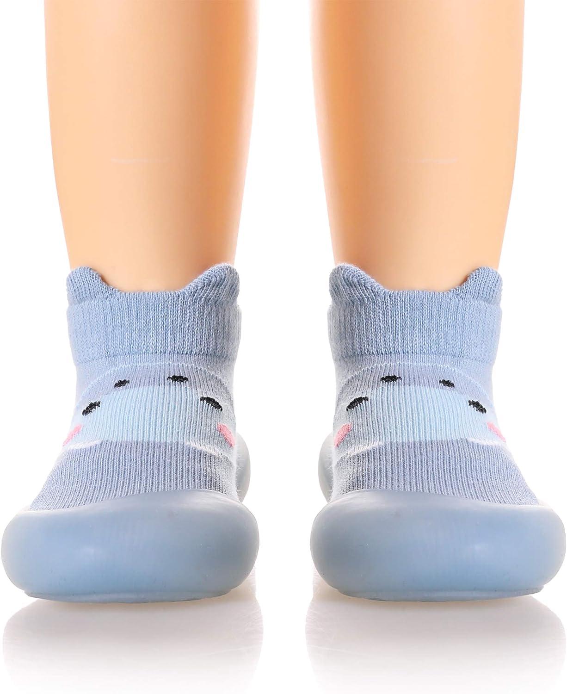Max 45% Over item handling ☆ OFF Baby Boy Girls Rubber Sole Non-Skid Tod Slipper Floor Indoor Kid
